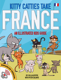 Red Cat Reading Kids vs Life Kitty Catties Take France Book
