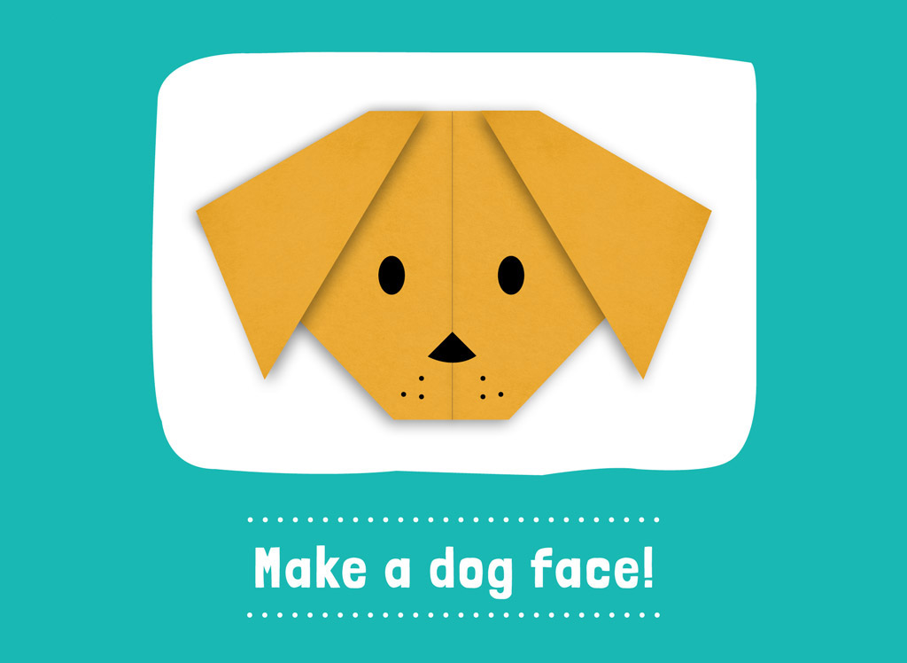 Origami Dog Face | 748x1024