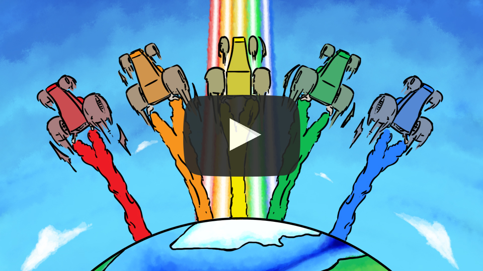 Red Cat Reading Kids vs Life Kids vs Light Video Rainbow Colors ROYGBIV
