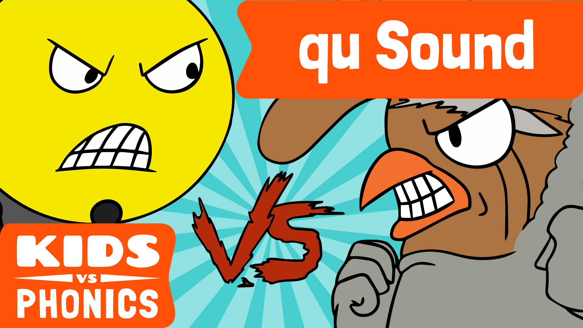 Red Cat Reading Kids vs Phonics 'qu' Sound