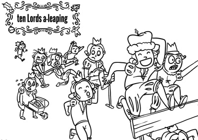 Red Cat Reading Christmas Printable Colouring WorkSheet