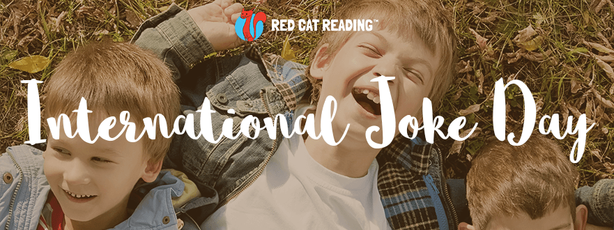 Red Cat Reading International Joke Day Header Kids Learn to Read