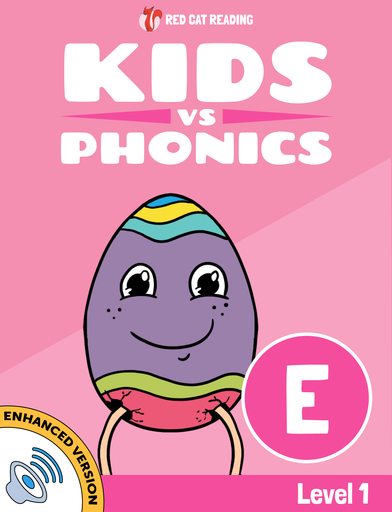 Red Cat Reading Kids vs Phonics Phonic E Sound Level 1 Learn to Read