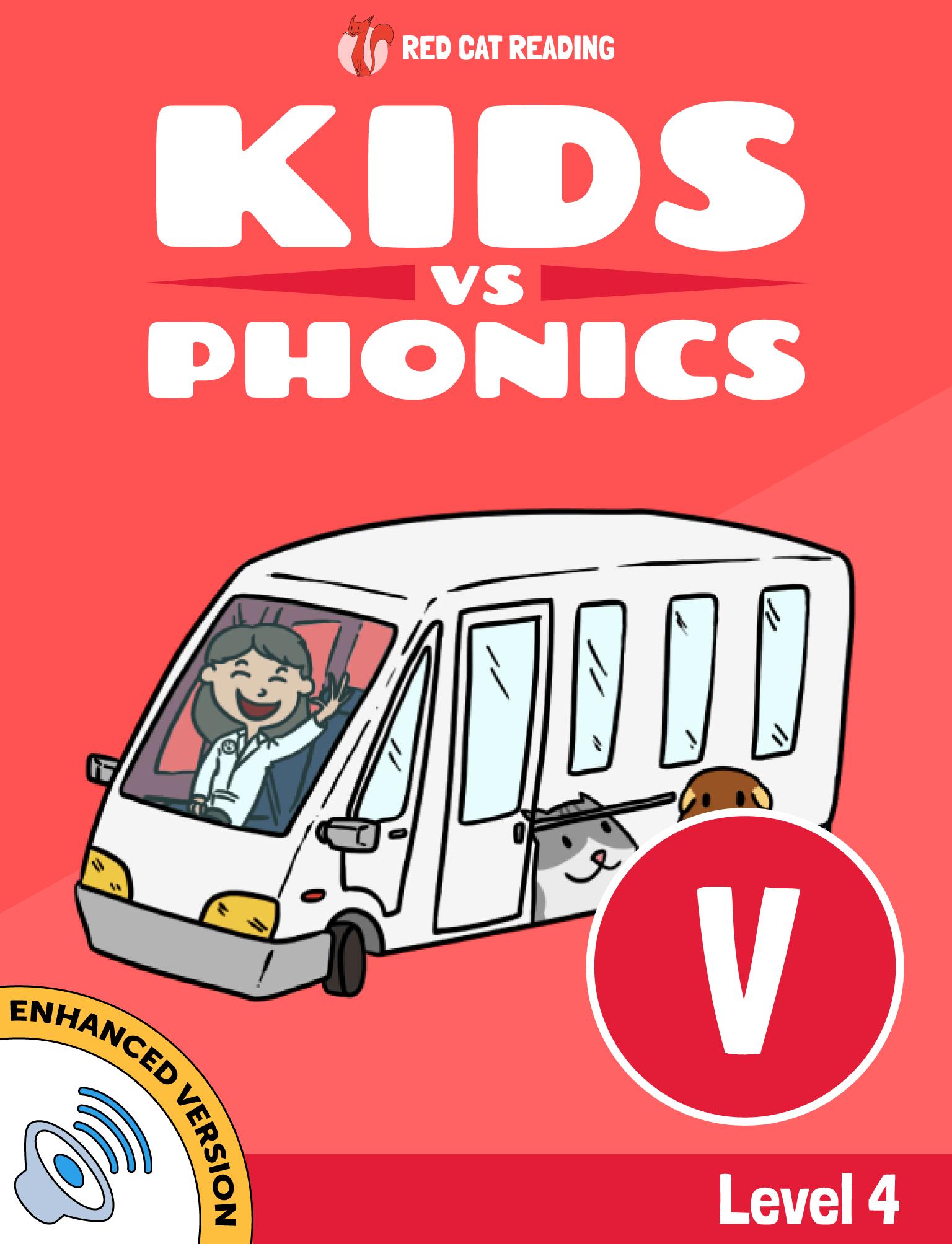Red Cat Reading Kids vs Phonics Level 4 Phonics V Sound