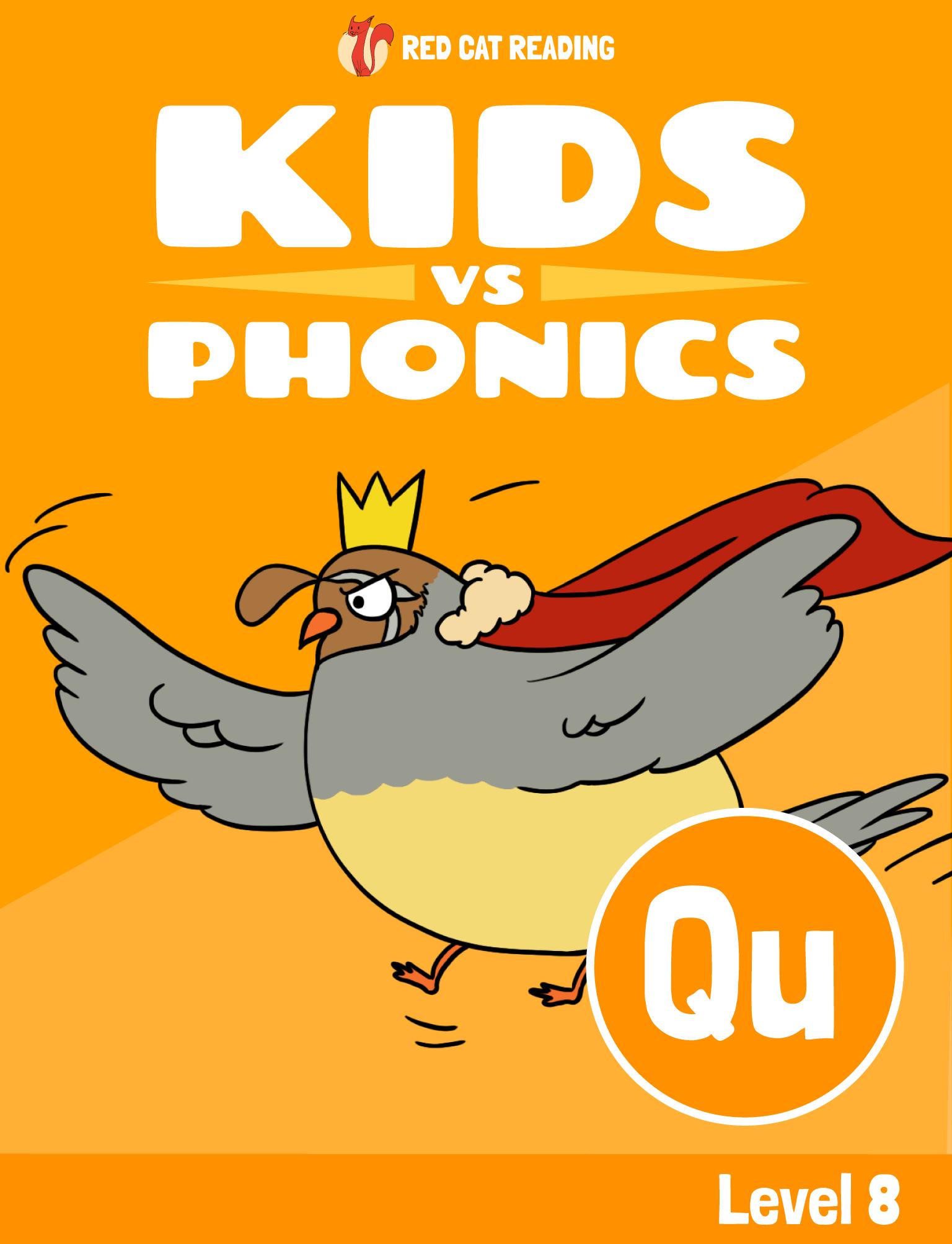 Red Cat Reading Kids vs Phonics Phonics Sound QU Kids Learn to Read
