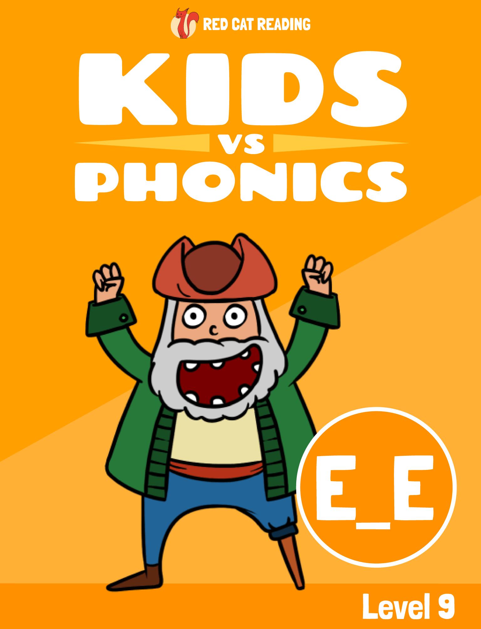 Red Cat Reading Kids vs Phonics Phonics Sound E_E Kids Learn to Read