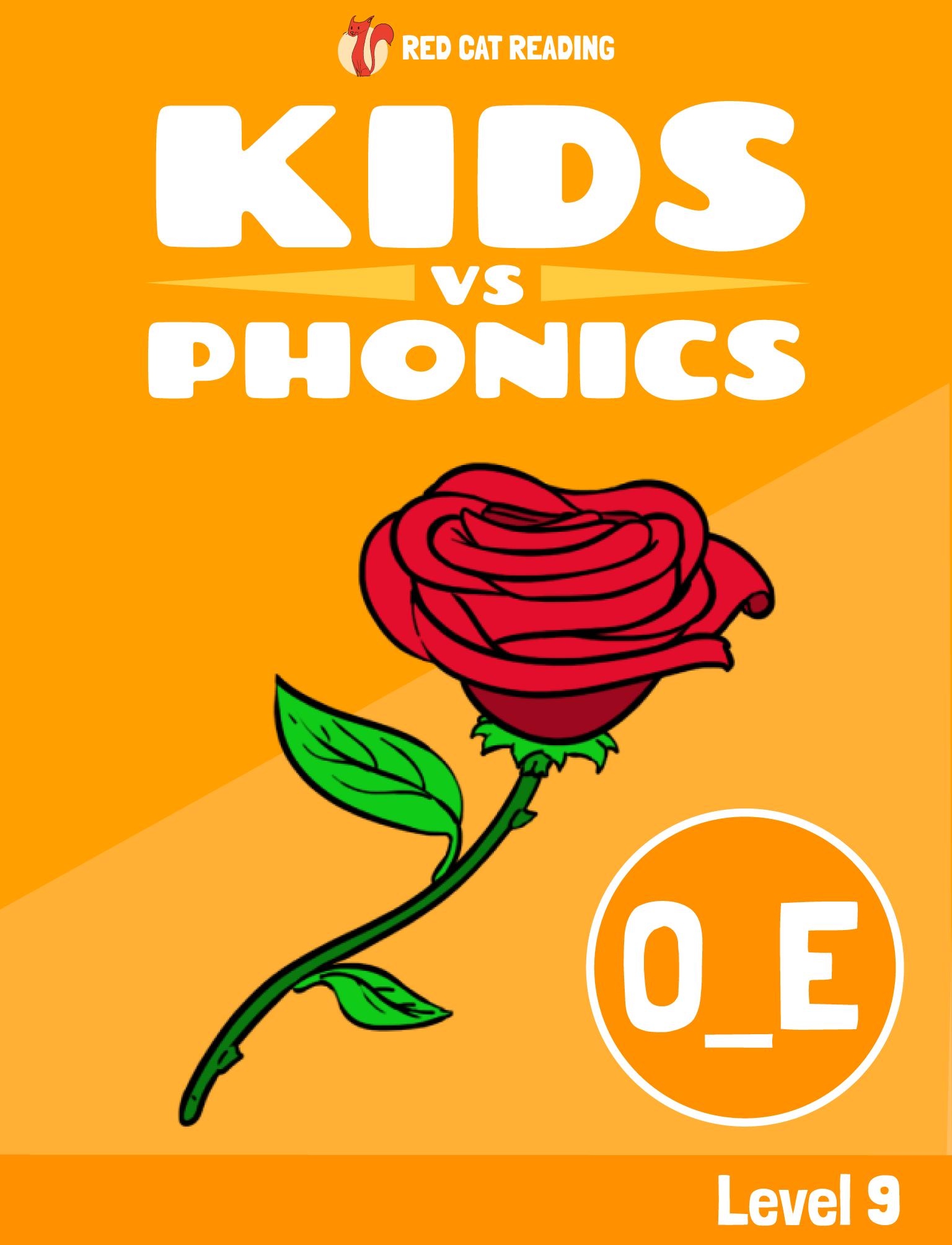 Red Cat Reading Kids vs Phonics Phonics Sound O_E Kids Learn to Read