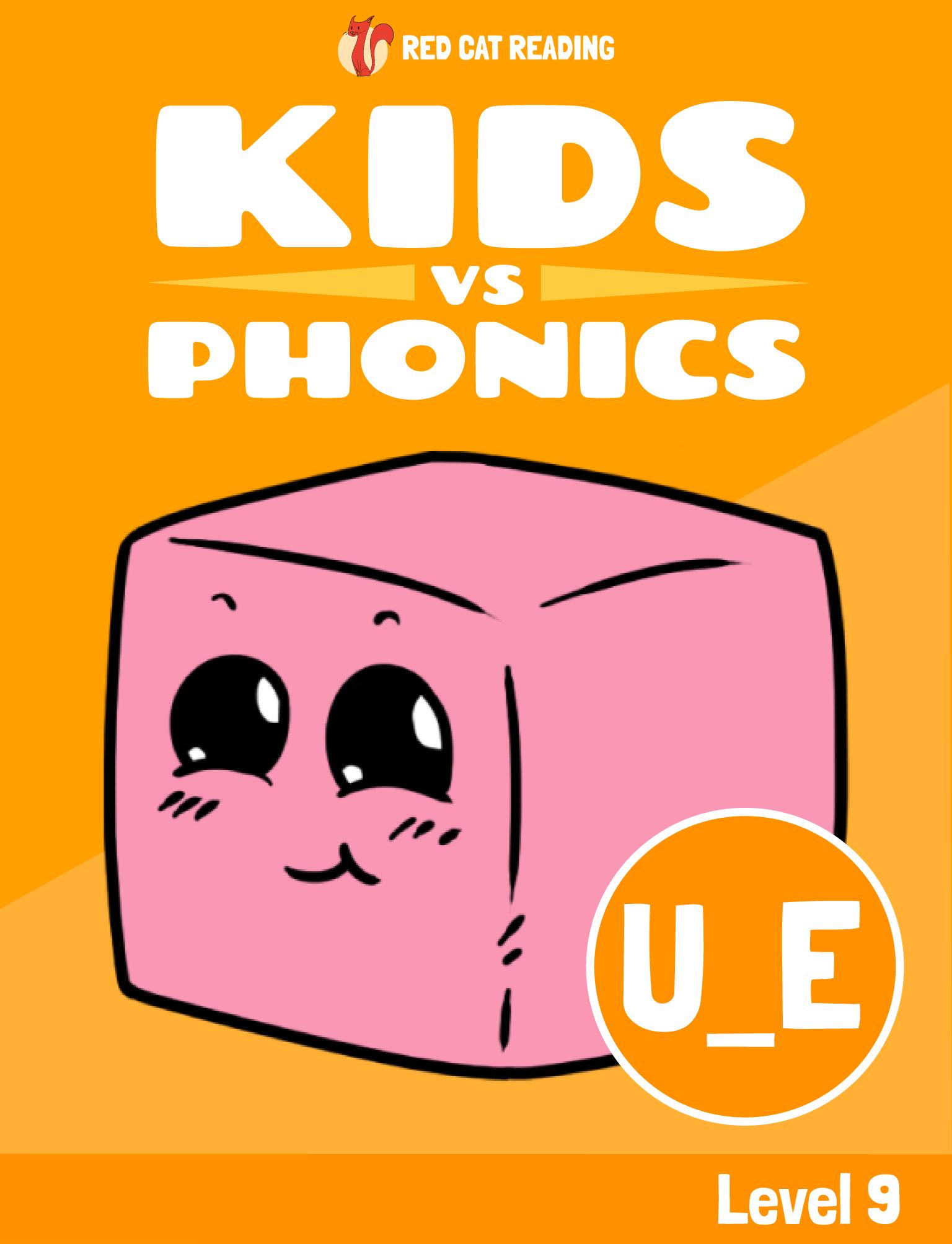 Red Cat Reading Kids vs Phonics Phonics Sound U_E Kids Learn to Read