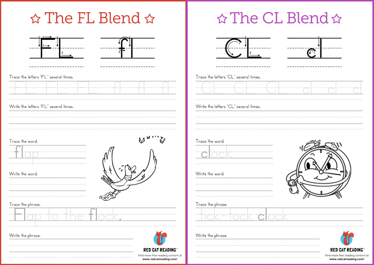Phonics Blends on Worksheets For Kindergarten About Writing