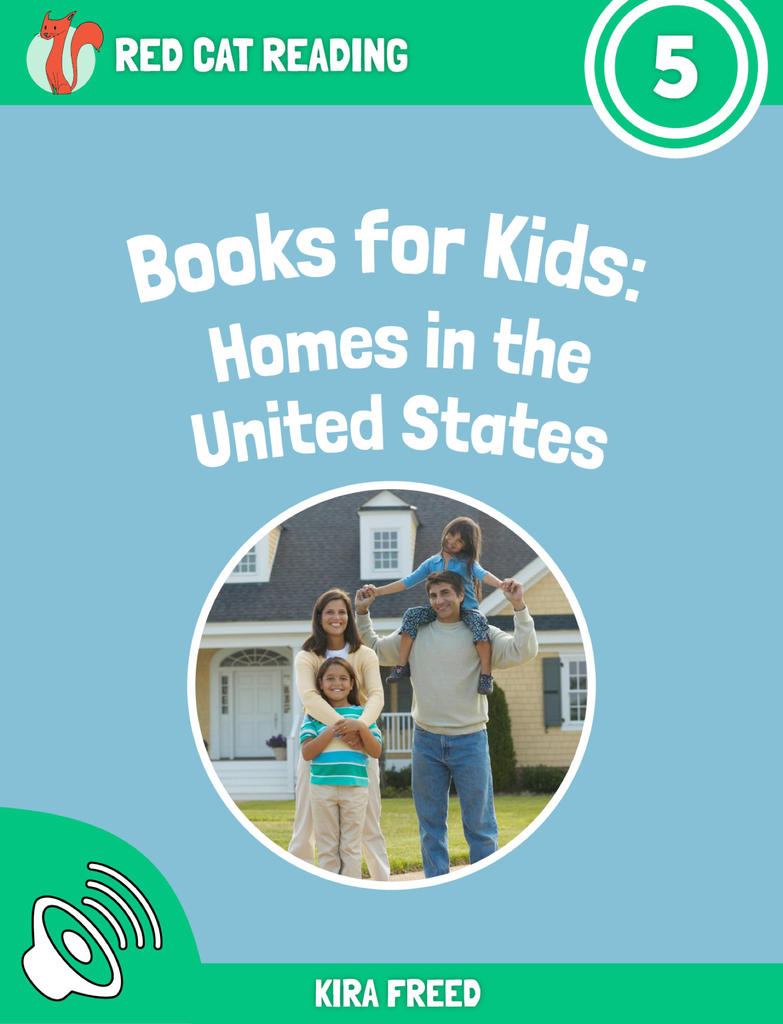 Red Cat Reading Level 5 Homes in the United States Book