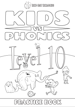 Red Cat Reading Kids vs Phonics Level 10 Worksheet