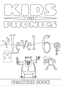 Red Cat Reading Kids vs Phonics Level 6 Worksheet