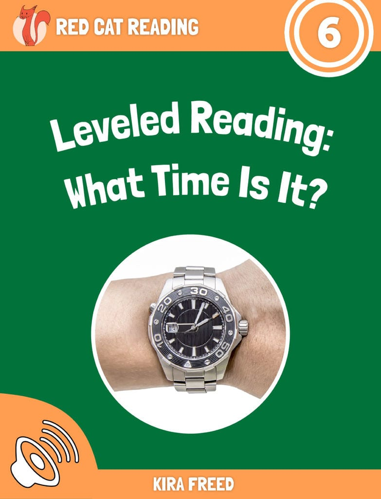 Red Cat Reading Level 6 What Time is it? Book