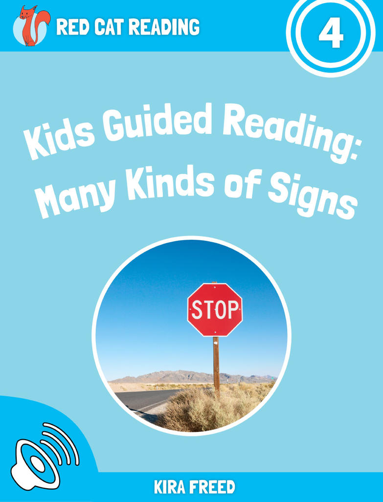 Red Cat Reading Level 4 Many Kinds of Signs Book