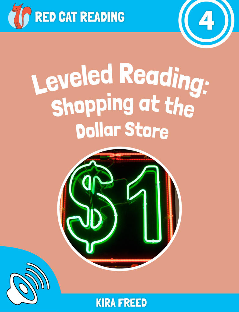 Red Cat Reading Level 4 Shopping at the Dollar Store book
