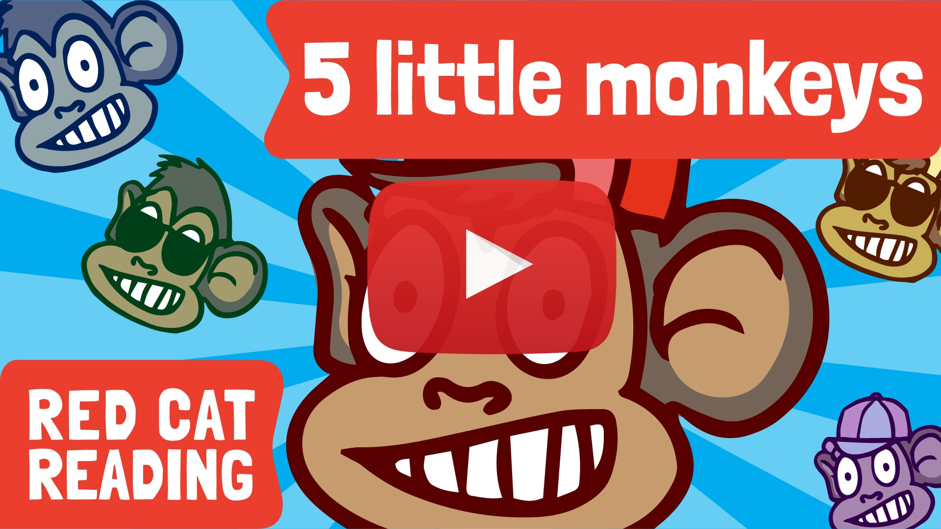 Five Little Monkeys Black Friday Red Cat Reading