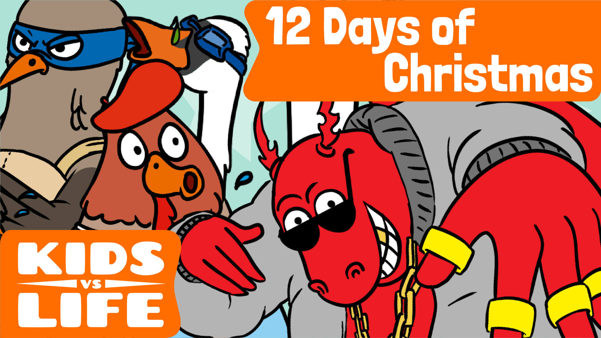 Red Cat Reading Kids vs Life Kids vs 12 Days of Christmas Video